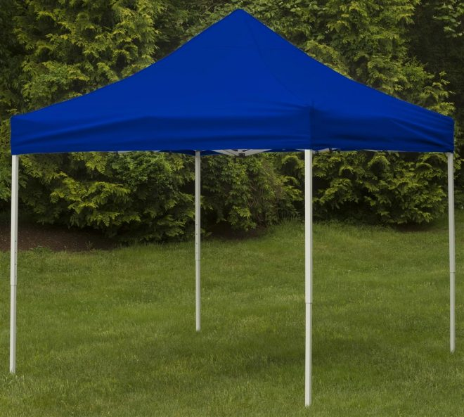 10 x 10 outdoor canopy tent pop up portable square royal blue