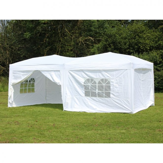 10 x 20 palm springs pop up white canopy gazebo party tent with 6 side walls new walmart