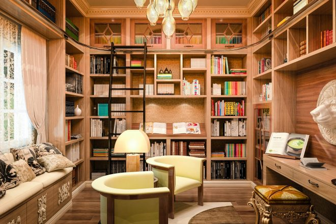101 home library design ideas photos