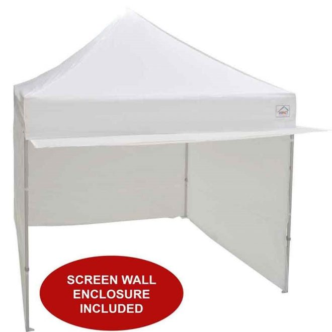 10x10 alumix pop up canopy tent with sidewalls and screen room mosquito netting