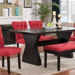 11 effie dining room set w red chairs