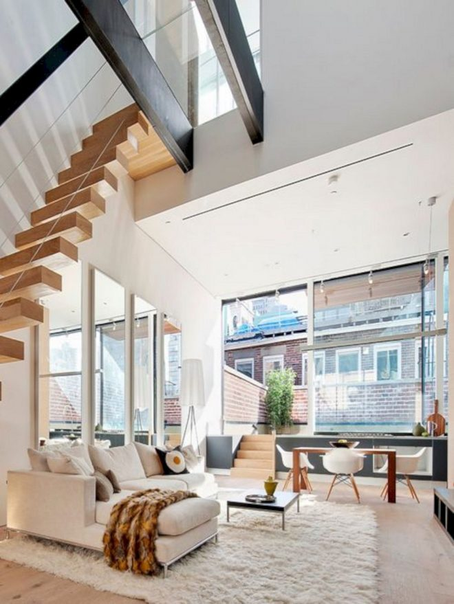 12 unique living room staircase for beautiful home decoration