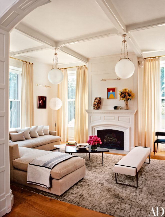 14 amazing living room makeovers architectural digest