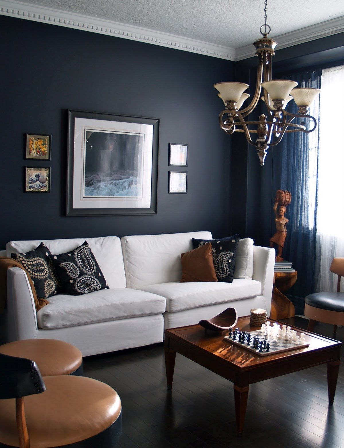 15 beautiful dark blue wall design ideas living room designs