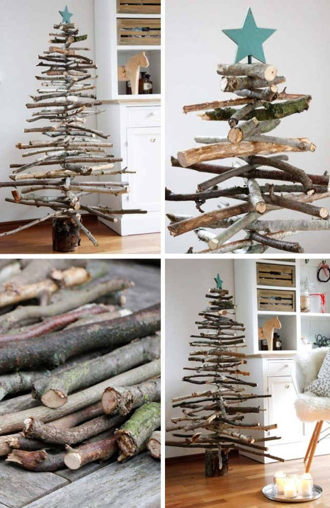 15 diys to decorate a small living room for christmas