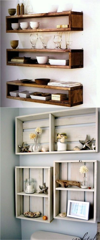 16 easy and stylish diy floating shelves wall shelves pinners