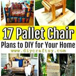 17 pallet chair plans to diy for your home at no cost diy