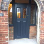 1930s storm porch front door composite door anthracite grey from
