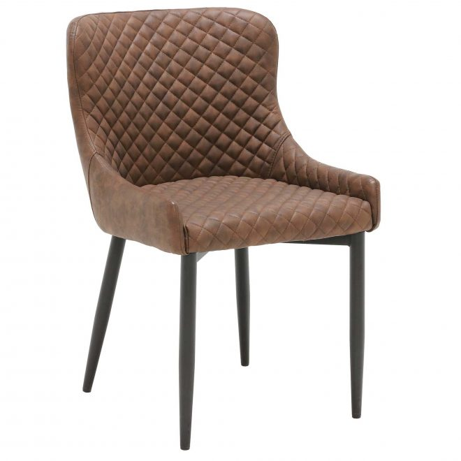 2 rivington faux leather dining chairs brown barker stonehouse