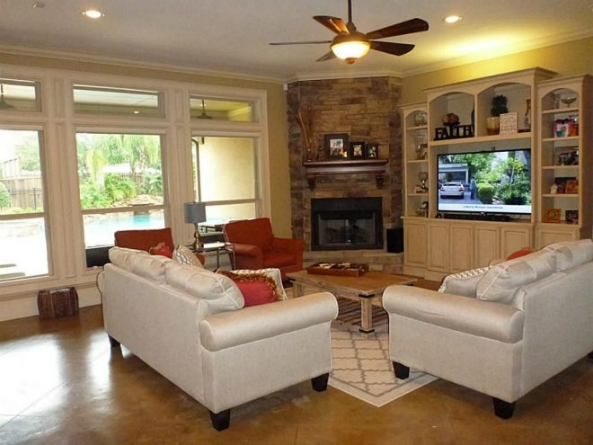 20 appealing corner fireplace in the living room tags
