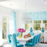 2016 hamptons showhouse photo tour turquoise dining room
