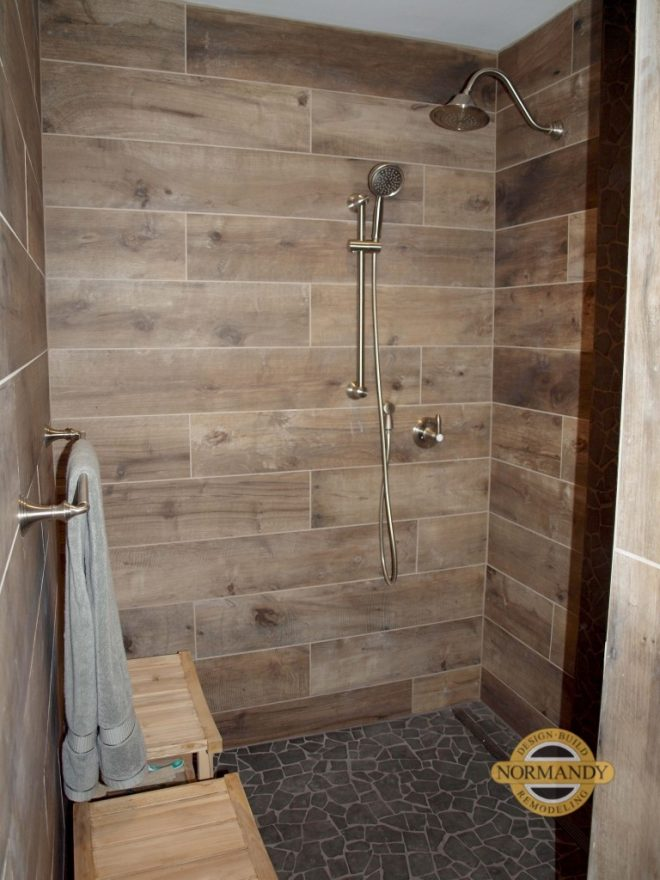 2018 wood tile shower ideas with pics decor or design