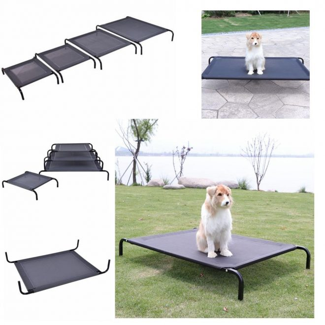 2019 large cat dog folding camp bed elevated pet cot kennels indoor outdoor camping steel frame mat 4 size aaa912 from liangjingjingno1 927