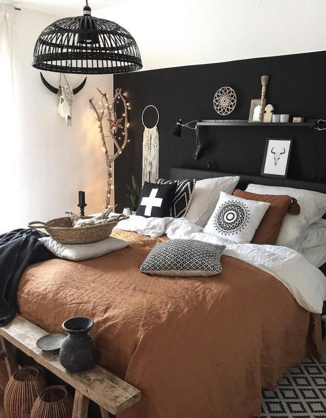 2020 52 warm and romantic bedroom bed decoration ideas