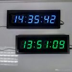 23 inch large display remote 3d led digital wall clock modern