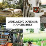 25 relaxing and cozy outdoor hanging beds gardenoholic