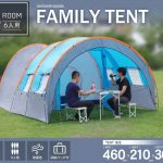 3 kamaboko tent family tent going to bed space living room tent camping recreation bbq waterproofing for six outdoor belonging to