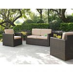 3 piece loveseat and chairs wicker furniture set palm harbor