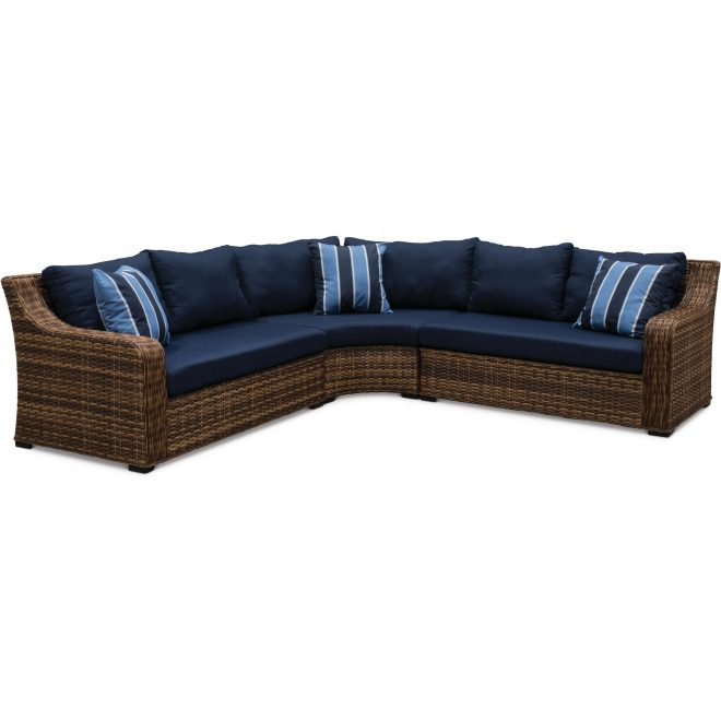 3 piece outdoor patio sectional sofa tortola