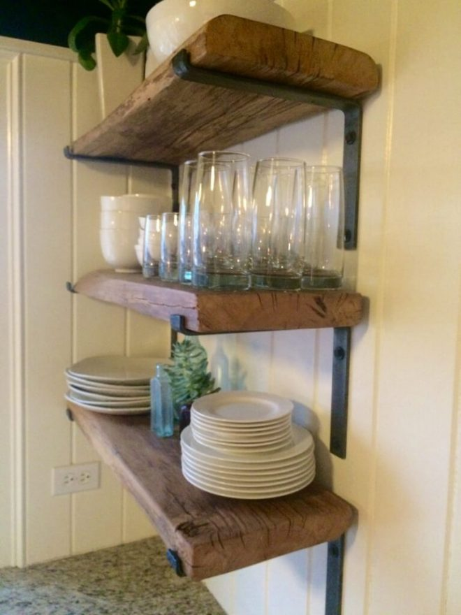 32 best ideas to add reclaimed wood to your kitchen in 2019