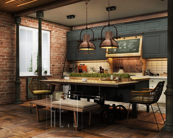 32 extremely beautiful industrial kitchen ideas that surely will