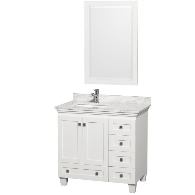 36 acclaim single bathroom vanity set wyndham collection white