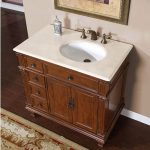 36 inch single sink bathroom vanity with offset sink