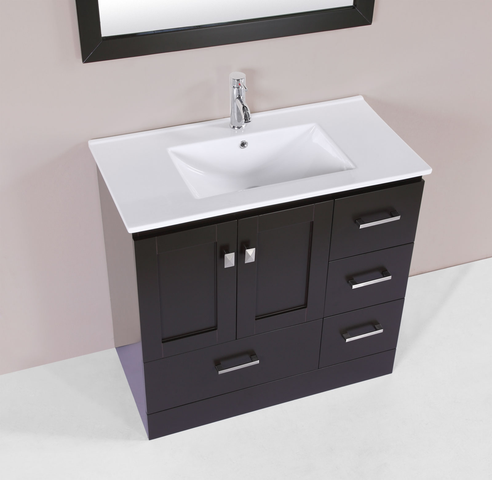 36 redondo espresso single modern bathroom vanity with integrated