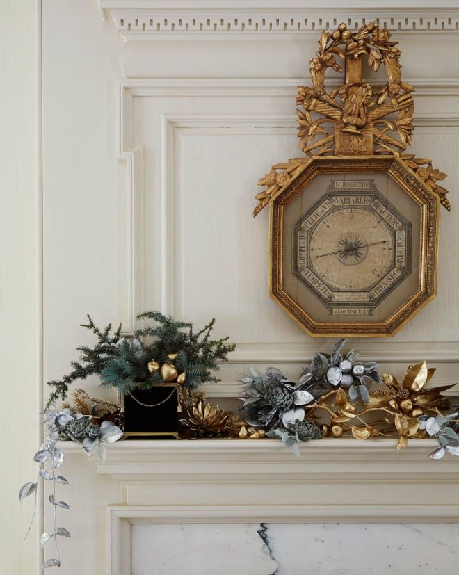 36 ways to decorate the christmas fireplace mantel