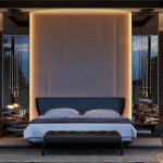 3d rendering for interior of an comfortable bedroom arhcicgi