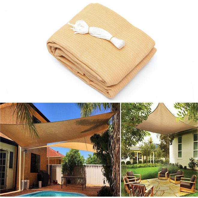 3x3m4m 280gsm hdpe uv sun shade sail cloth canopy outdoor patio square rectangle awning shelter
