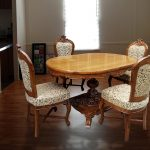 4 seater dining table wooden dining furniture dng 0051