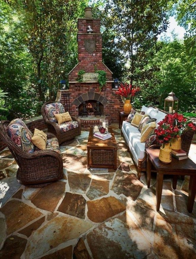 40 rustic outdoor fireplace design ideas to try asap