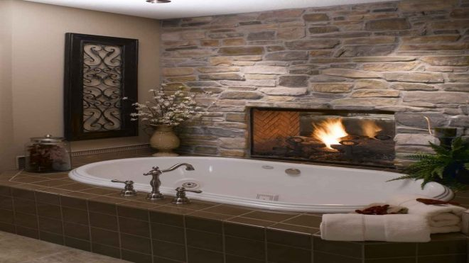 42 delightful bathroom fireplace ideas that youll adore in