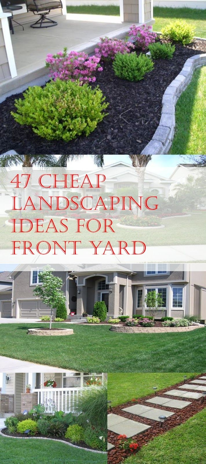 47 cheap landscaping ideas for front yard landscaping ideas