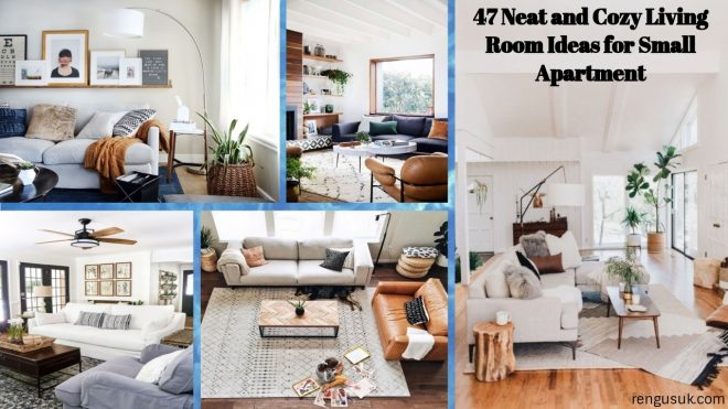 47 neat and cozy living room ideas for small apartment