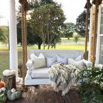 47 rustic farmhouse porch decor ideas hanging manor bed porch swing