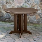 48 in round counter height dining table