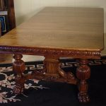 48 square oak dining table with 4 leaves