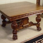 48 square oak dining table with 4 leaves antique oak