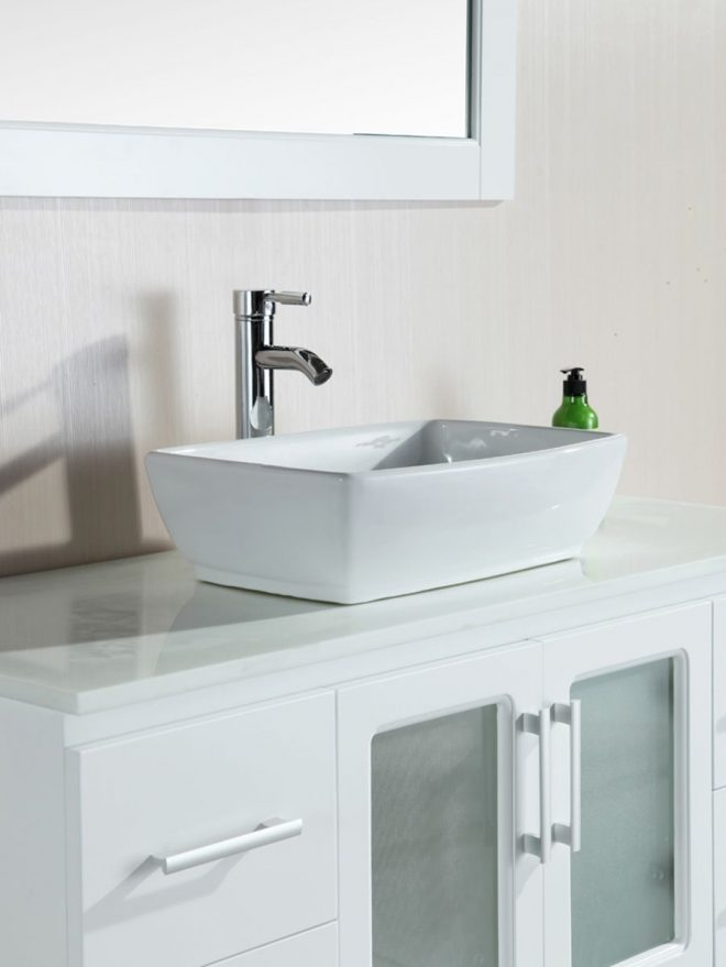 48 stanton single vessel sink vanity white