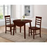 4d concepts harrison 3 piece antique oak dining set 530990 the