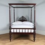 4ft 6 victorian colonial raj four poster bed antiques