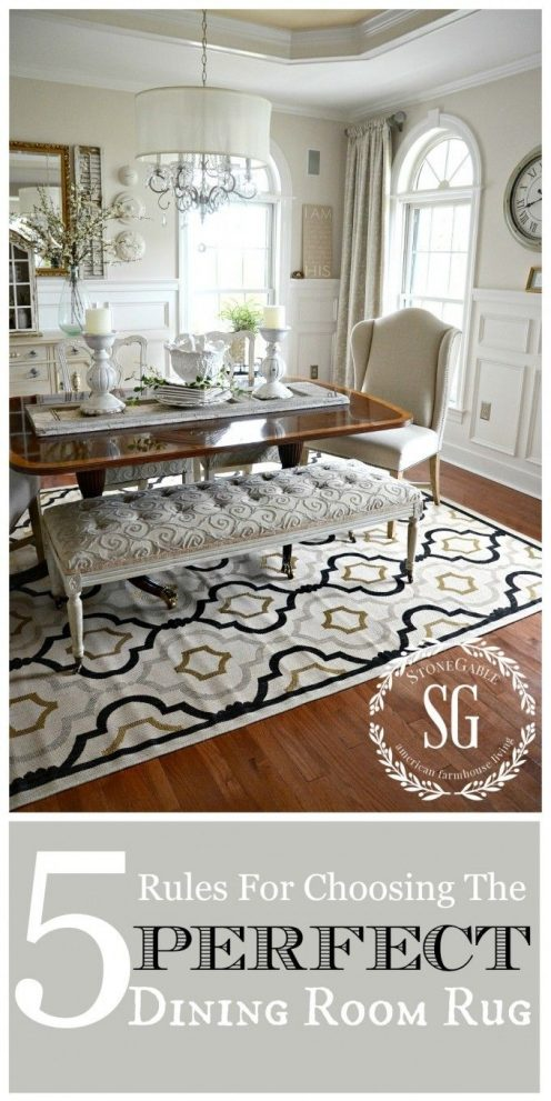 5 rules for choosing the perfect dining room rug all things home
