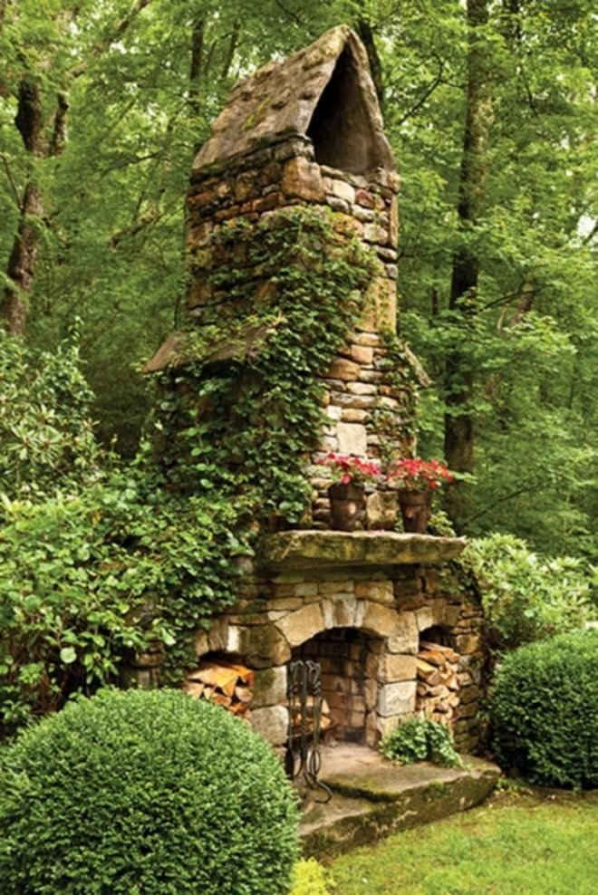 50 exciting rustic outdoor fireplace decor ideas page 42