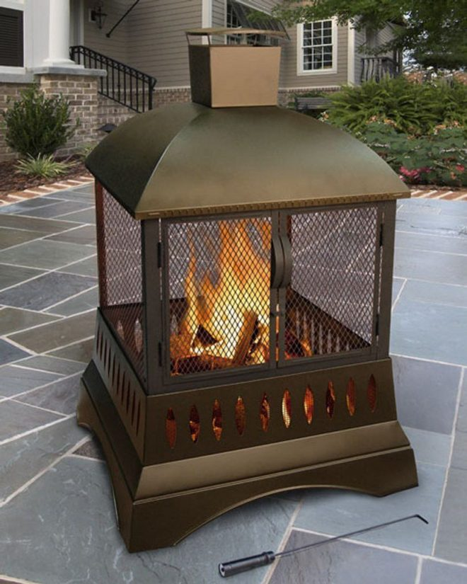 50 outdoor wood burning fireplace with chimney fire pits