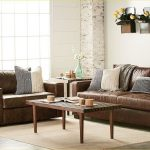 53 lovely farmhouse living room with leather sofa home x