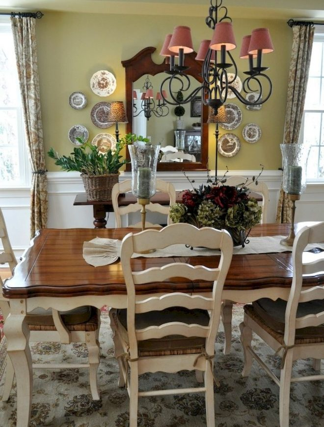 55 fancy french country dining room table decor ideas french