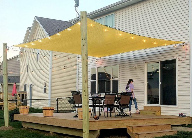 55 off rectangle sun sail canopy 8 x 10 ft in 2019 patio