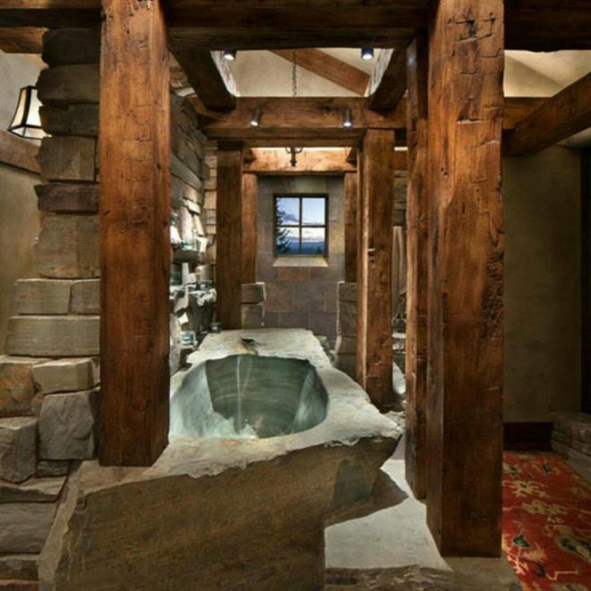 59 traditional and rustic bathroom decor idea for a